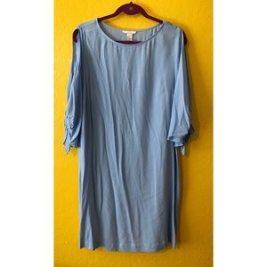 H&M powder blue dress, size 12, tied cold shoulder